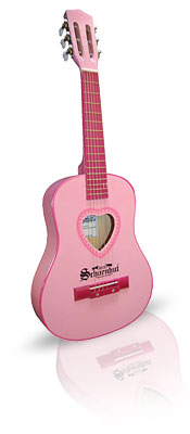 Pink Heart Acoustic Guitar