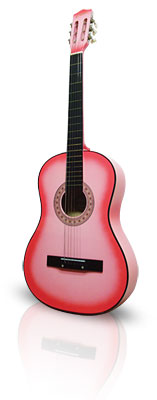 Pink Guitar 38in Acoustic From The Pink Superstore