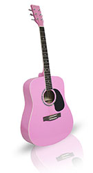Pink Guitar 41in Concert Acoustic From The Pink