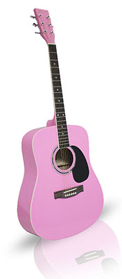 Pink Guitar 41in Dreadnaught Acoustic From The Pink Superstore
