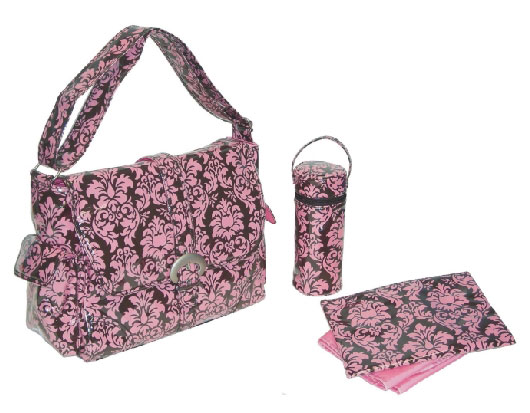 Diaper Bag Baby Pink Laminated Buckle Bag From The Pink Superstore