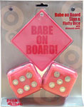 Babe On Board Pink Fuzzy Dice Combo From The Pink Superstore