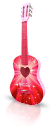 "Pink Guitar 38"" Acoustic From The Pink Superstore"