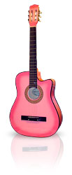 Pink Acoustic Beginner Cutaway Guitar From The Pink Superstore