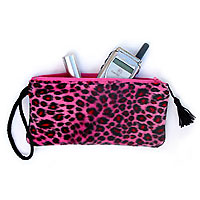 Belle Bags Pink Cheetah Wristlet From The Pink Superstore