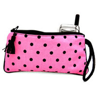 Pink & Black Ooh La Dots Wristlet From The Pink Superstore