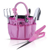 Pink Garden Tool Set From The Pink