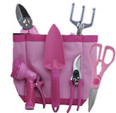 Pink Garden Tool Gift Bag From The